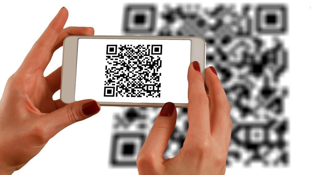 QR-Code auf Visitenkarte